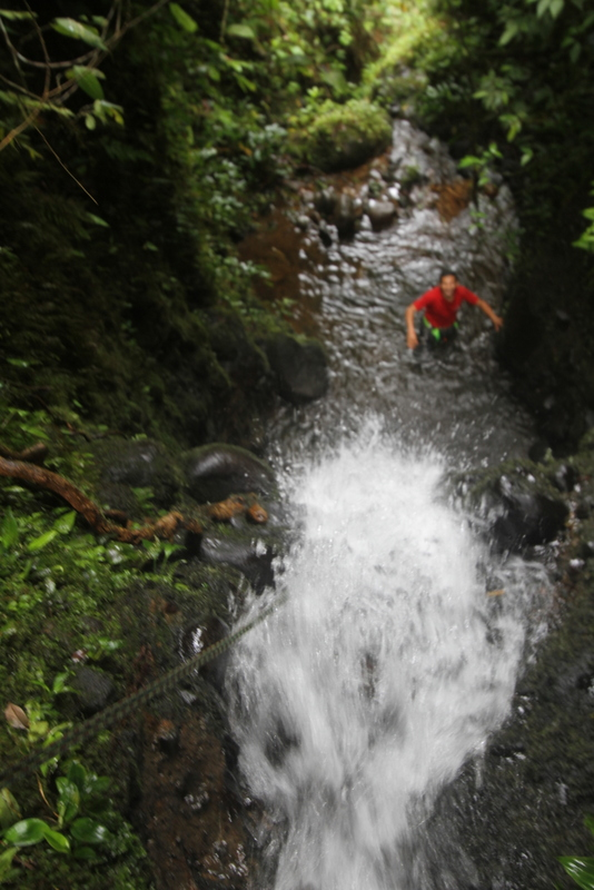 Pre-canyoning in the canyoning creek!