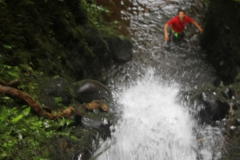 Pre-canyoning in de canyoning beek!